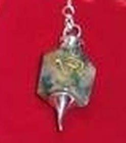 Pendul din agat cu simbolul Tao pe lantisor argintiu