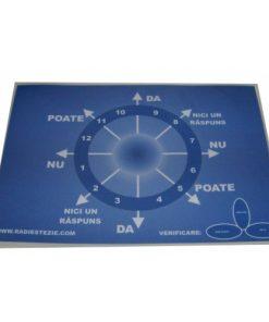 Planșă de radiestezie, albastra, plastifiata, A5