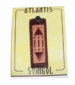 Pandantiv din piele cu simbolul Luxor / Atlantida