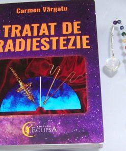 Pendul din cristal de stanca cu cristalele celor 7 chakre